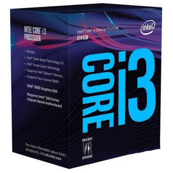 Intel Core i3-8100 Coffee Lake 3600MHz, LGA1151 v2, L3 6144Kb BOX